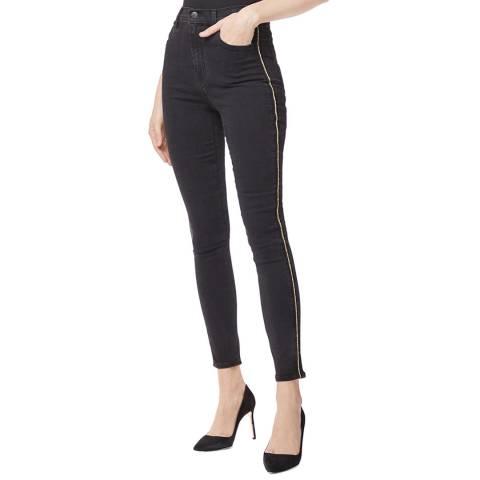 J Brand Black Leenah Braid Skinny Stretch Jeans