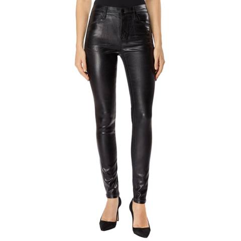 J Brand Black Maria Coated Skinny Stretch Jeans