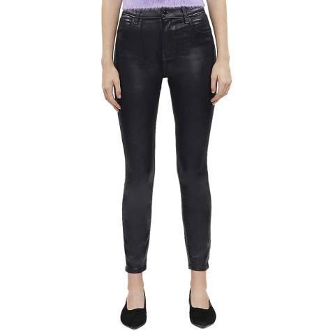 J Brand Navy Alana Coated Skinny Stretch Jeans