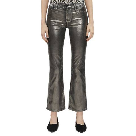 J Brand Silver Selena Coated Bootcut Stretch Jeans
