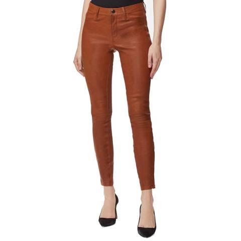 J Brand Rust L8001 Skinny Leather Trousers