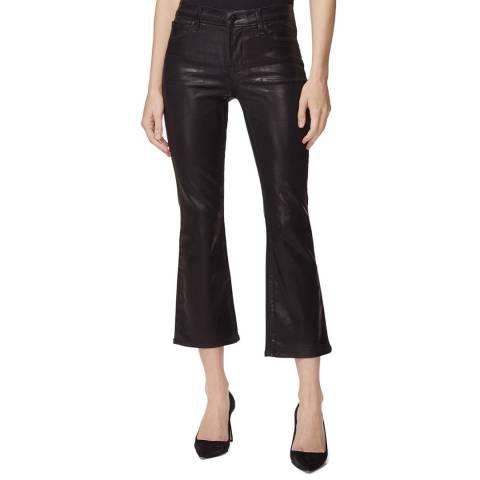 J Brand Black Selena Coated Bootcut Stretch Jeans
