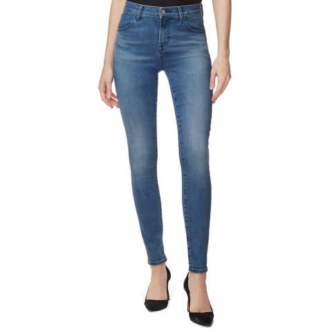 J Brand Blue Wash Maria Skinny Stretch Jeans