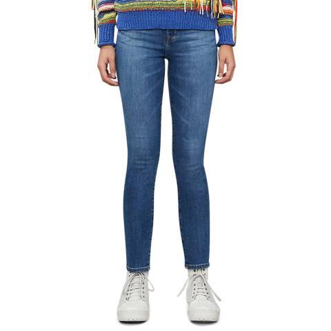 J Brand Blue Alana Cropped Skinny Stretch Jeans