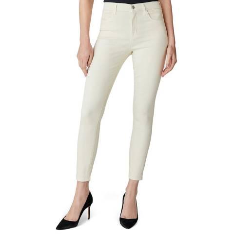 J Brand Cream Alana Cropped Skinny Stretch Jeans