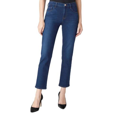 J Brand Navy Adele Straight Stretch Jeans