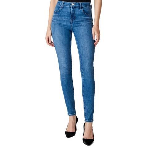 J Brand Mid Blue Maria Skinny Stretch Jeans