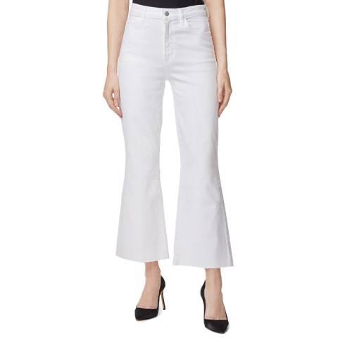 J Brand White Julia Flared Stretch Jeans