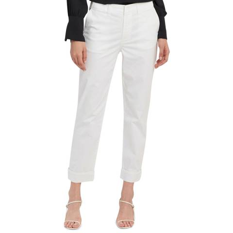 J Brand White Ollie Relaxed Stretch Trousers