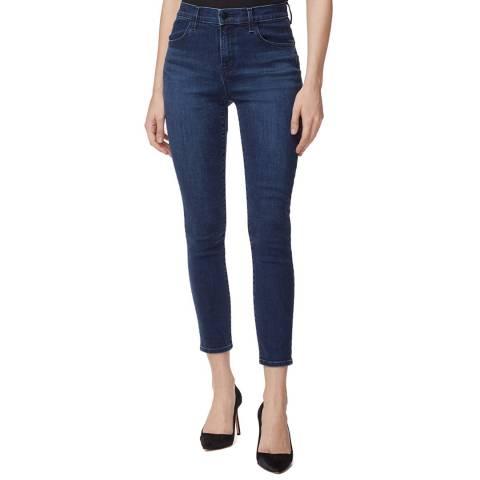 J Brand Navy Alana Cropped Skinny Stretch Jeans