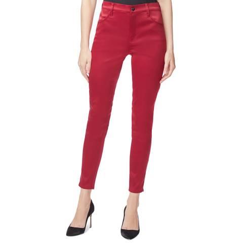 J Brand Red Alana Zip Skinny Stretch Jeans