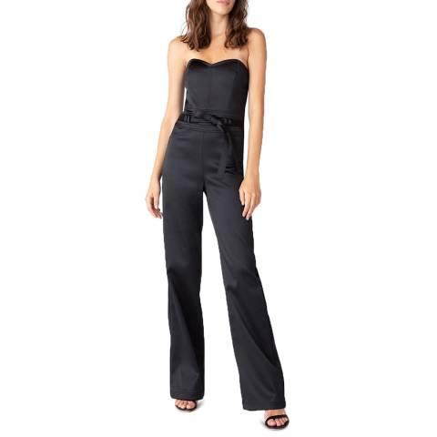 J Brand Black Jenna Strapless Jumpsuit
