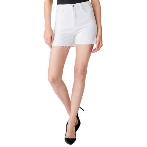 J Brand White Jules Denim Stretch Shorts