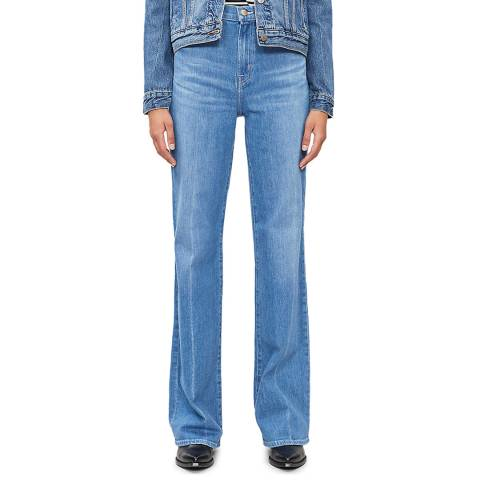 J Brand Blue Joan Wide Stretch Jeans