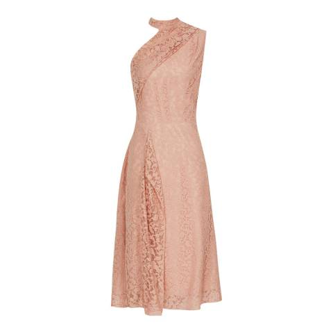 Reiss Pink Stephie Lace Dress
