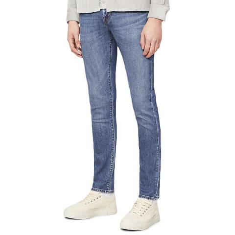 J Brand Blue Wash Tyler Tapered Stretch Jeans