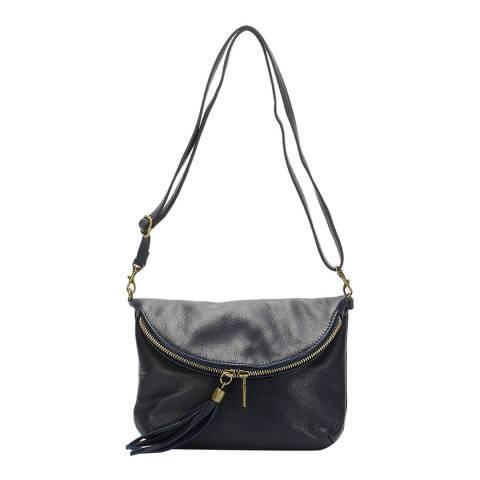 Massimo Castelli Blue Leather Clutch Bag