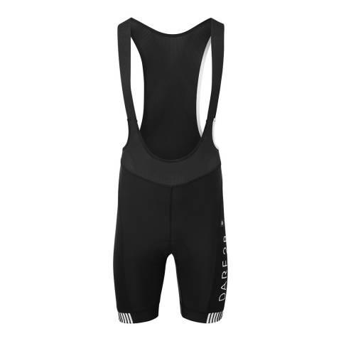 Dare2B Black/White Virtuosity Bibbed Cycling Shorts