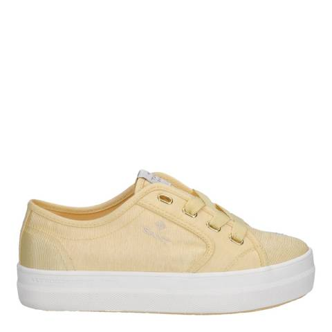 Gant Light Yellow Leisha Low Lace Sneakers