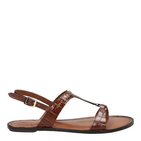Gant Cognac Croco Beechum Sandals
