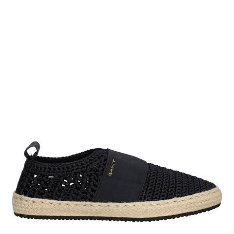 Gant black Black Raffiaville Espadrille casual shoe