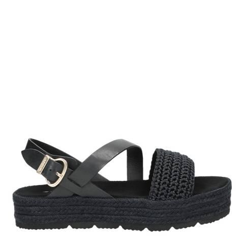 Gant Black Daisywall Platform Sandals