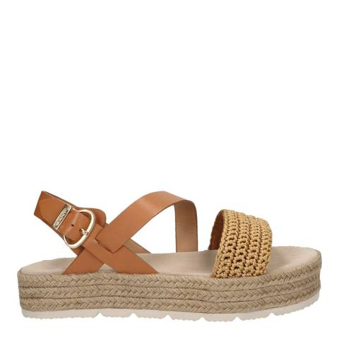 Gant Fudge Caramel Daisywall Platform Sandals