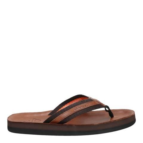 Gant Cognac Palmworld Flip-Flops