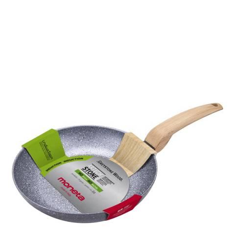 Moneta Non Stick Frying Pan with Wood Effect Bakelite Handle, 30cm