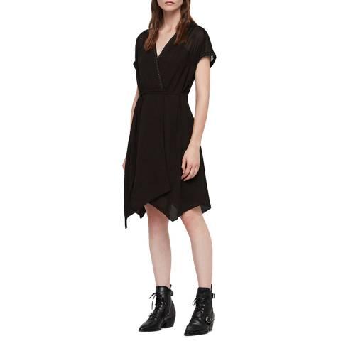 AllSaints Black Claria Dress