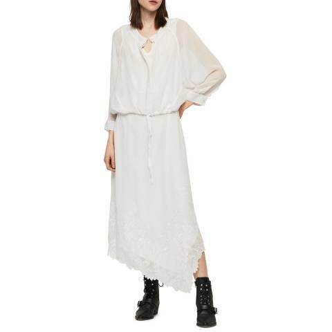 AllSaints White Rhea Ebony Dress