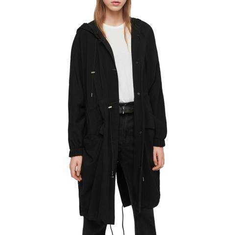 AllSaints Black Bay Parka Coat
