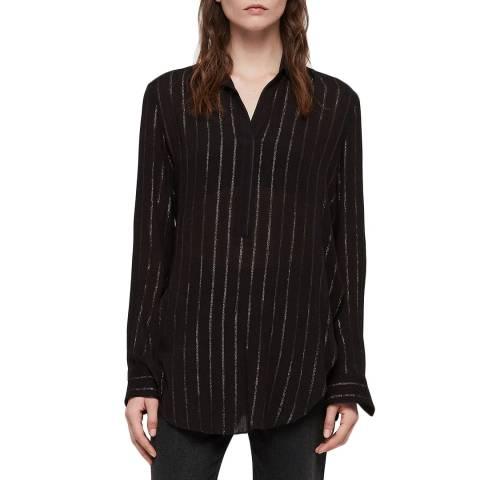 AllSaints Black Stripe Keri Shirt