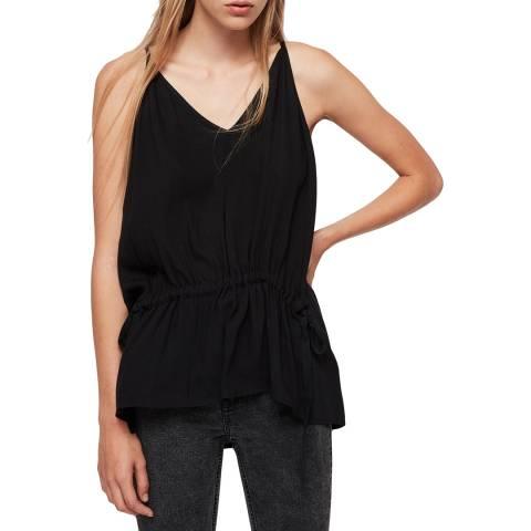 AllSaints Black Isabel Top