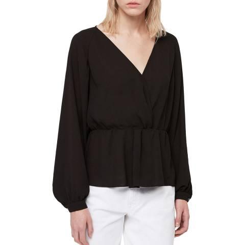 AllSaints Black Lasia Top