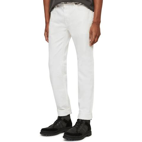 AllSaints Chalk Rex Slim Straight Stretch Jeans