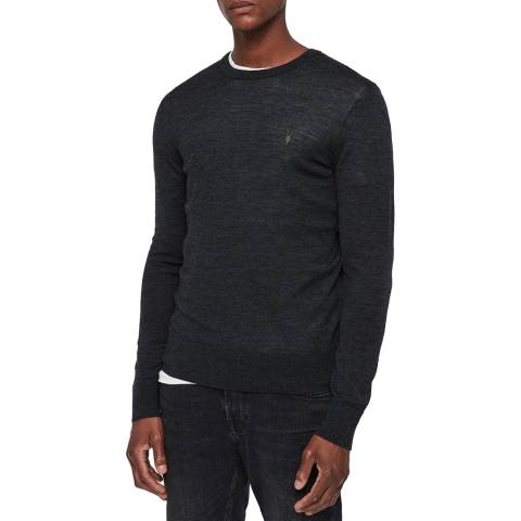 AllSaints Black Mode Lightweight Wool Jumper
