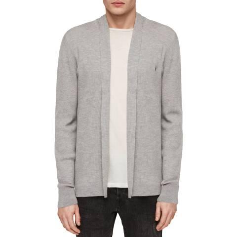 AllSaints Grey Mode Wool Cardigan
