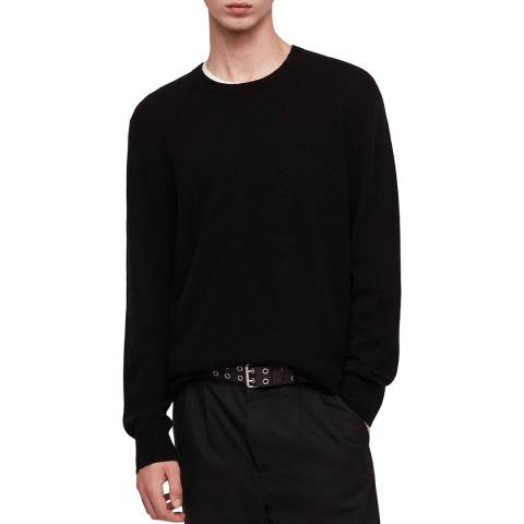 AllSaints Black Travon Jumper