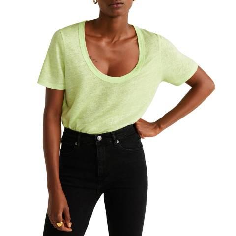 Mango Yellow Linen T-Shirt