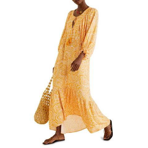 Mango Orange Paisley Gown