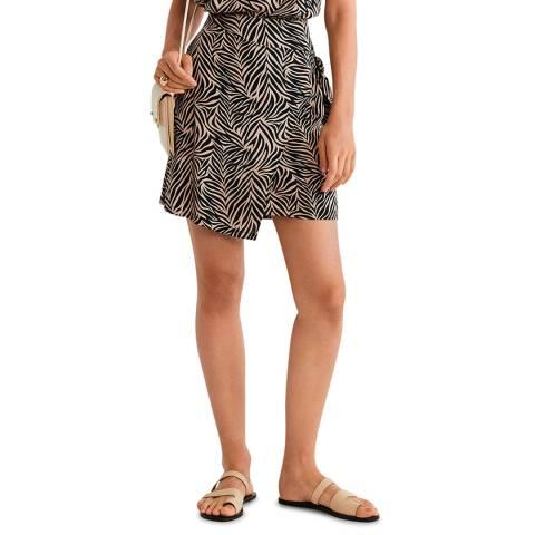 Mango Grey Wrap Print Skirt