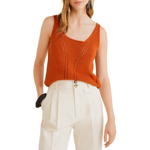 Mango Russet Recycled Cotton Top