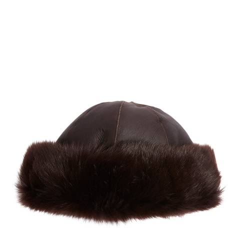 Laycuna London Luxury Brown Sheepskin Hat