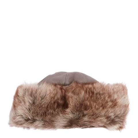 Laycuna London Luxury Grey Sheepskin Classic Hat