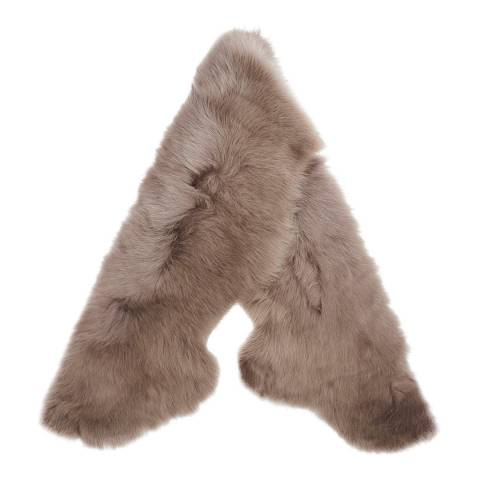 Laycuna London Luxury Brown Sheepskin Scarf