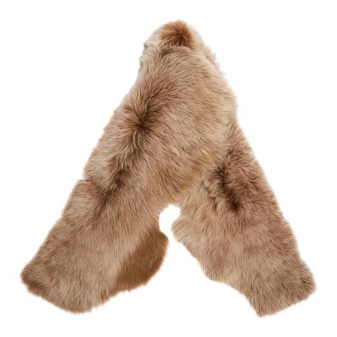 Laycuna London Luxury Butterscotch Sheepskin Scarf