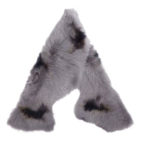 Laycuna London Luxury Mid Grey Sheepskin Scarf