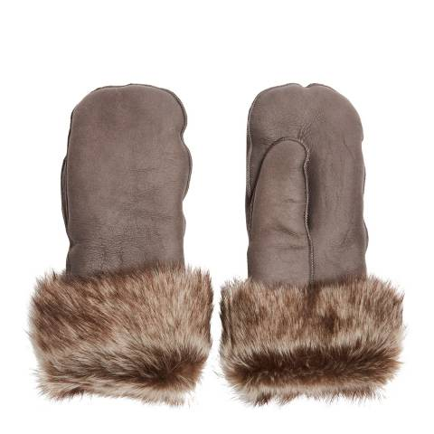 Laycuna London Luxury Grey Sheepskin Mittens