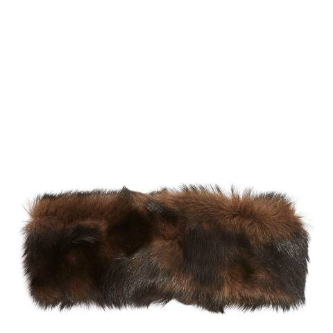 Laycuna London Luxury Cappuccino/Black Sheepskin Headband